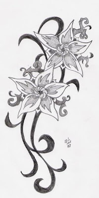Tattoo art tune. Flower tattoo is one of the oldest designs used in inking.