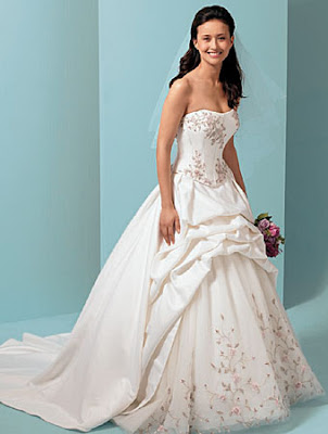 The Wedding Gown Dresses  with accents bank.