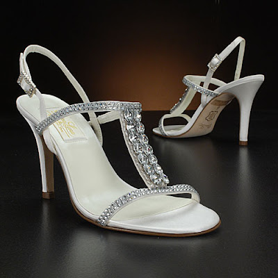 Wedding Shoes sowing with crystals