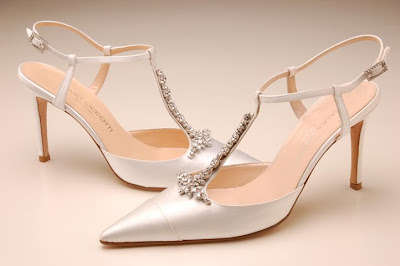 Shoes with unique designs for wedding crystal