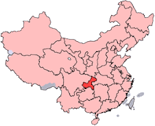 Chongqing Municipality (Hilighted in Red)