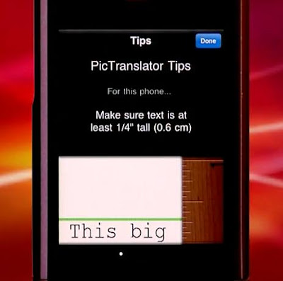 Photo Translation App for the iPhone: PicTranslator