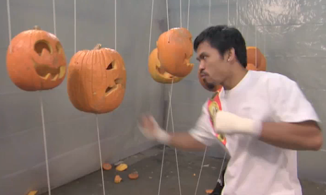 Manny Pacquiao Recycles Pumpkins & Interview On Jimmy Kimmel Live [HD VIDEOS]