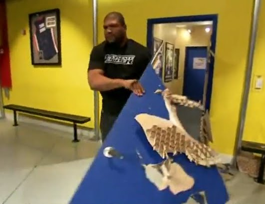 UFC Rampage Jackson Breaks Down Door In Less Than 5 Seconds!
