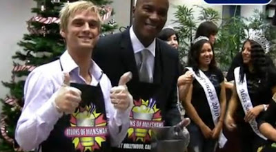 Aaron Carter Serves Millions of Milkshakes At St Francis Hospital
