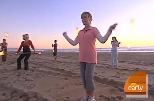 New Fire Dancing Exercise In Southern California