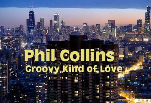 Phil Collins-Groovy Kind of Love (Lyrics+Cover+Karaoke) Official Music Video