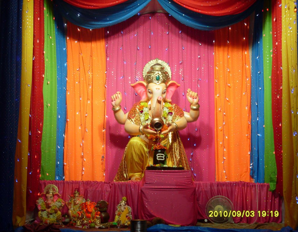 Ganpati decoration background joy studio design gallery for Background decoration for ganpati