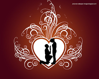 Romentic Couple With Heart