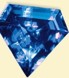A diamond shaped tanzanite.