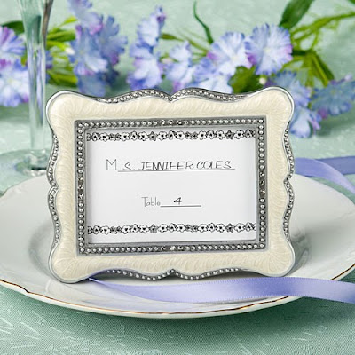 Victorian Place Card Photo Frame Wedding Favors