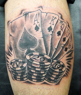 harley quinn joker card tattoo by ~carlyshephard on deviantART
