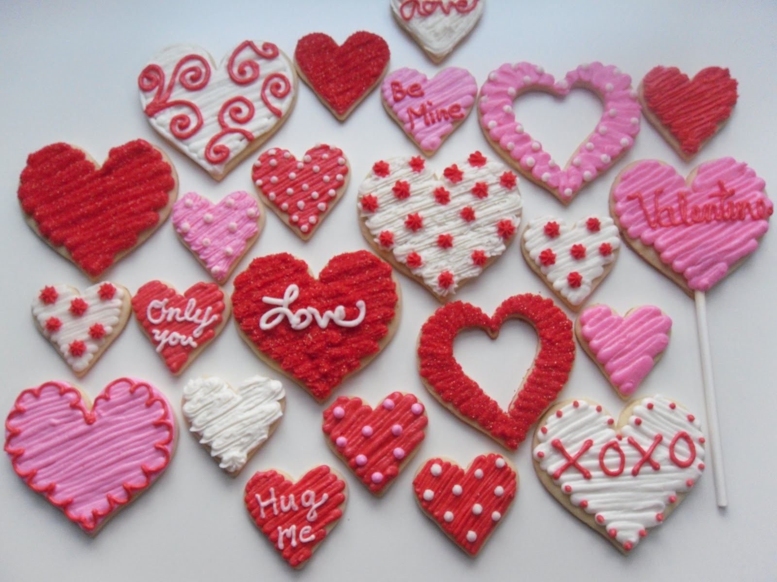 Valentines Cookies Sweet Paisley C...