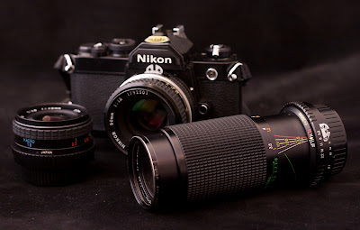 Nikon FM and Nikkor Lenses.