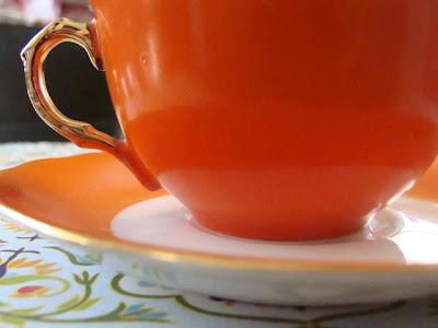 tea cup orange