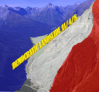 DEMOCRATIC LANDSLIDE 11/4/8 copyright 2008 Cosanostradamus blog me no blogs