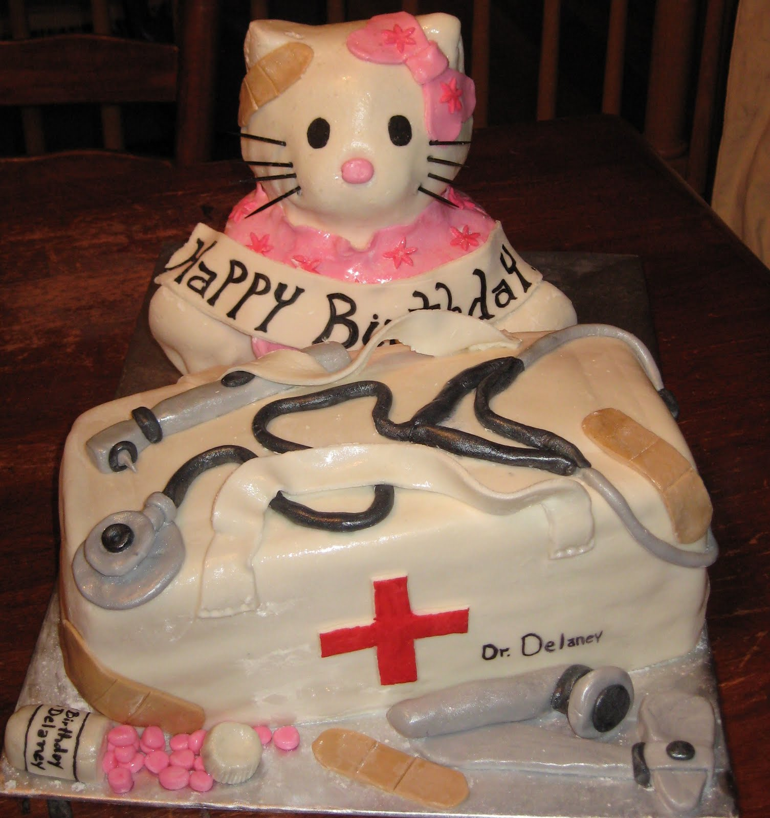 Sugar Weave Custom Cakes: Hello Kitty Doctor Cake. Yes. You understood ...