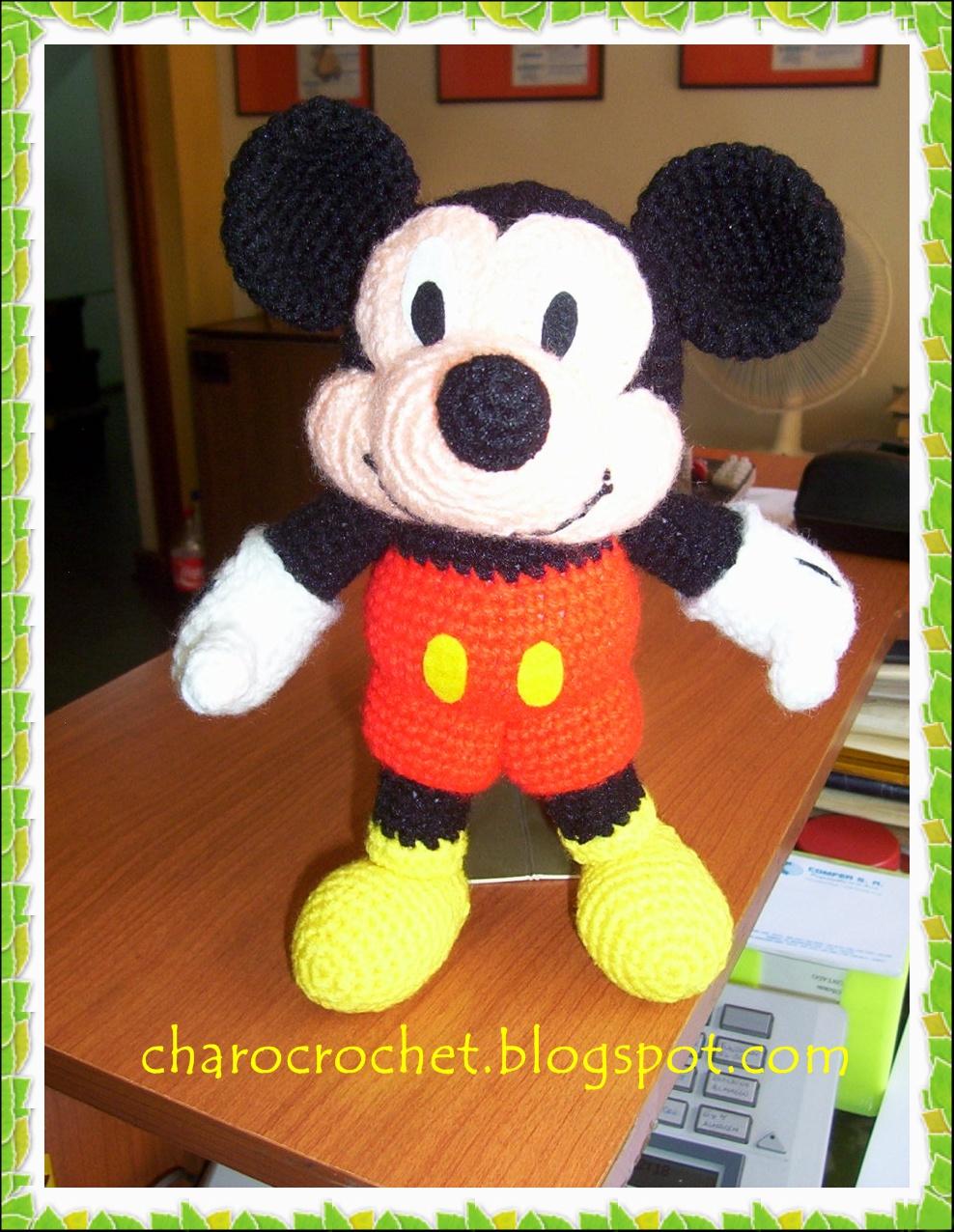 CHAROCROCHET PATRONES: MICKEY MOUSE