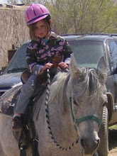 Audrey rides a horse by herself on her 4th Birthday!!