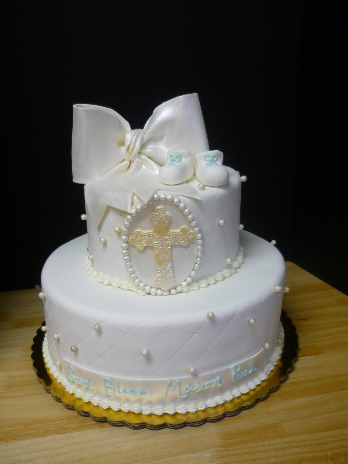 Images Of Cake For Christening : Artisan Bake Shop: Christening, Baptism, First Communion Cakes