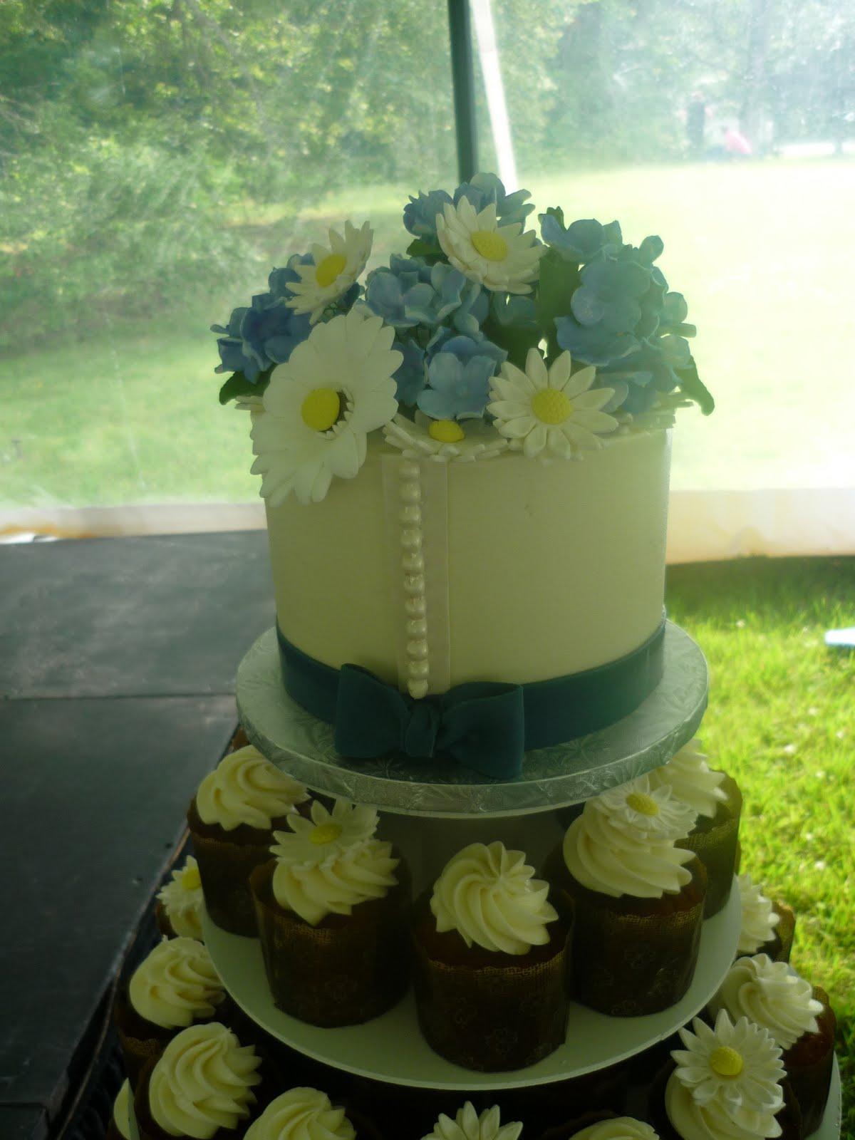 Artisan Bake Shop Hydrangea Daisy with Wedding Dress Detail - 2014