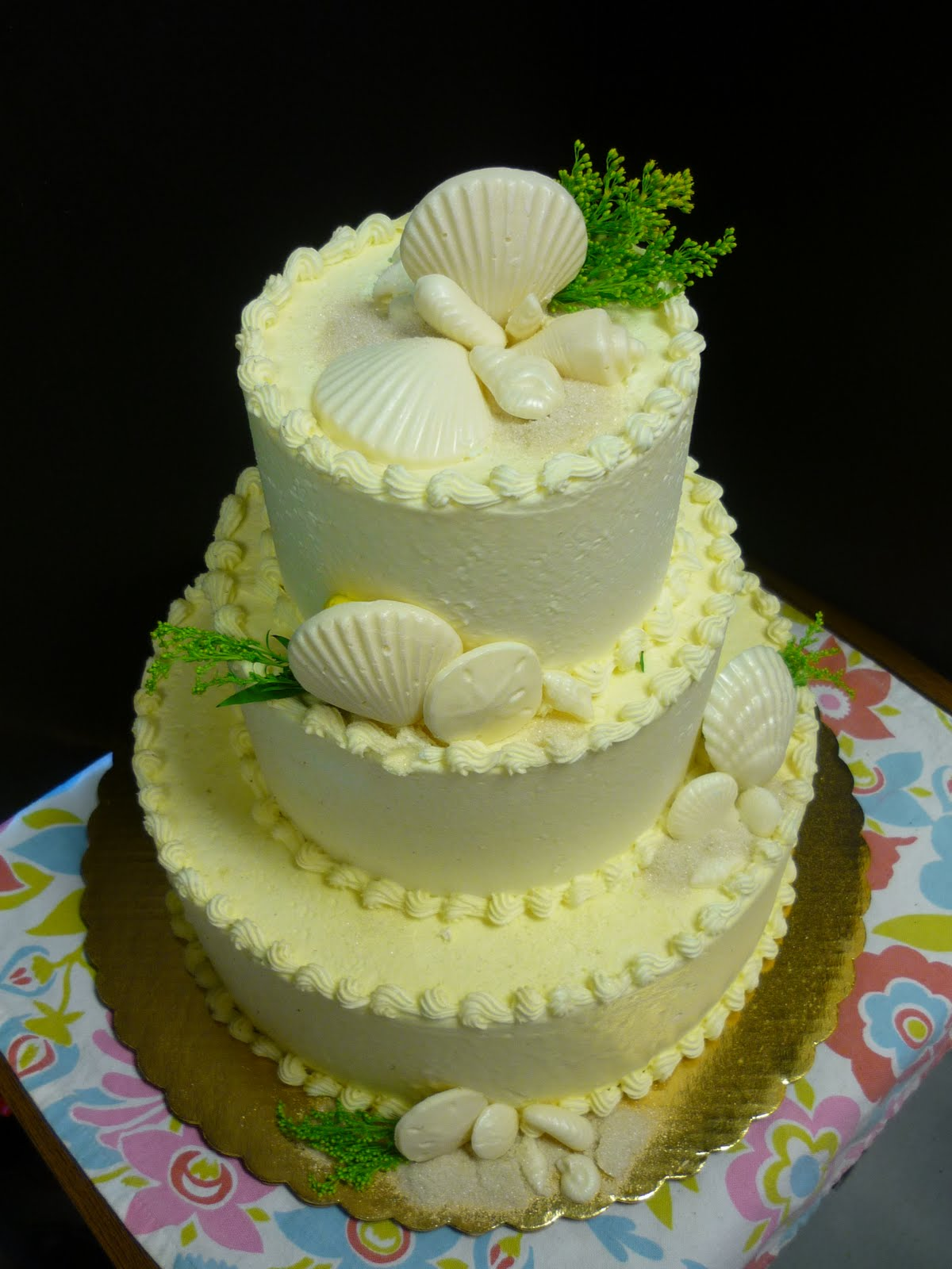 Artisan Bake Shop Wedding Cake Buttercream Tiers with
