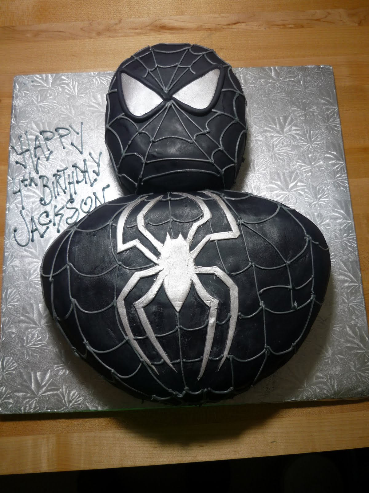 Black spiderman cakes - photo#1