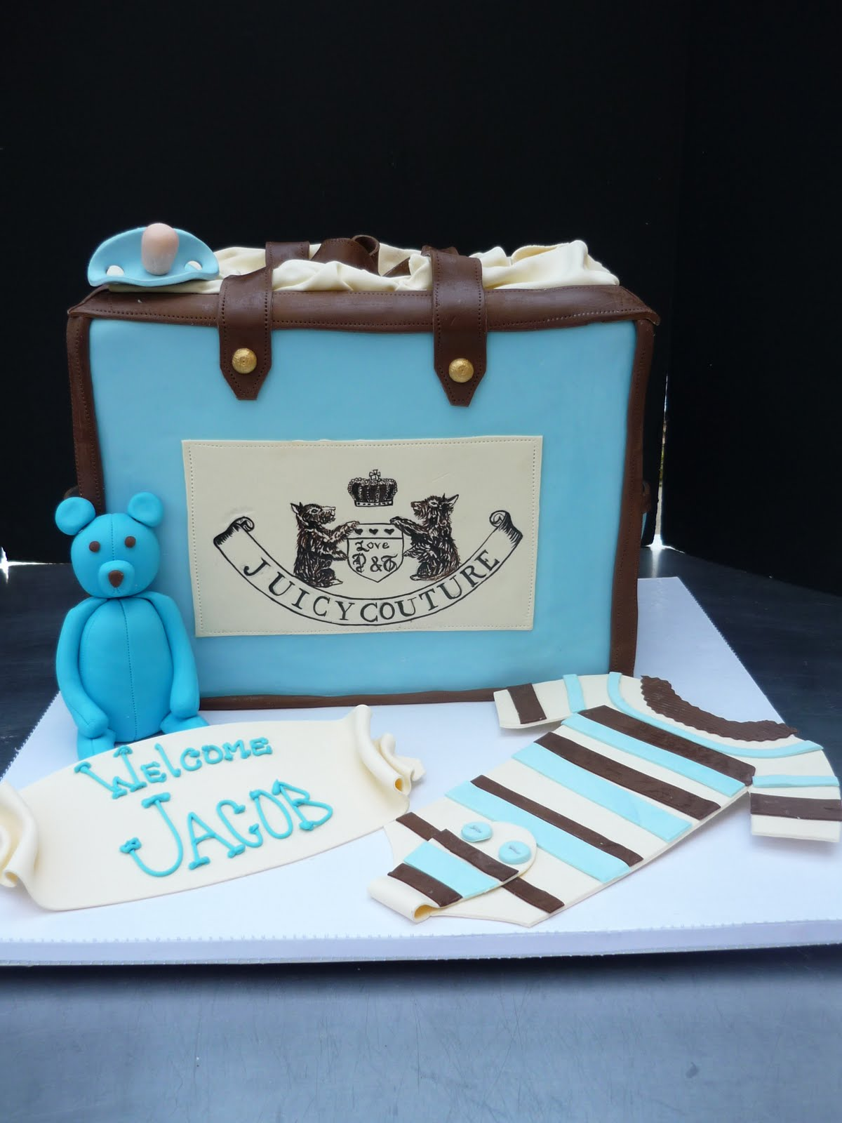 Artisan Bake Shop Juicy Couture Baby Shower Cake