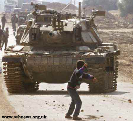 Palestine boy tank