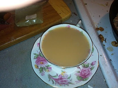Cup of tea whilst I cook