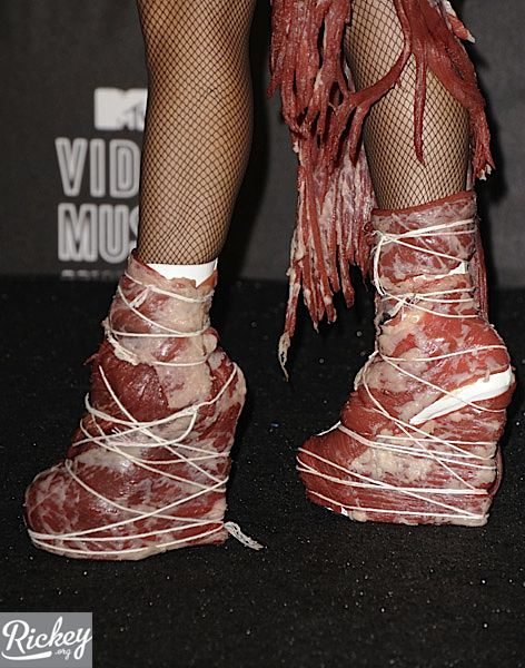 Lady GaGa Wears Meat Dress to VMAs as Sign of Protest