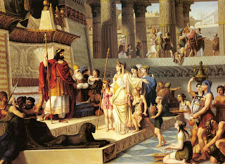 Solomon and the Queen of Sheba by Giovanni Demin (1789-1859)