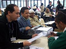 Prof. Marcelo com alunos com deficiência Visual