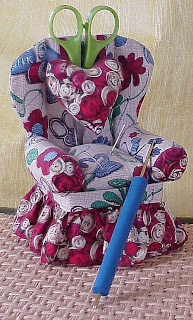 crochet needle hook chair plush