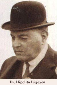 Hipólito Urigoyen con sombrero