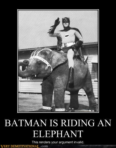 Batman is Riding an Elephant