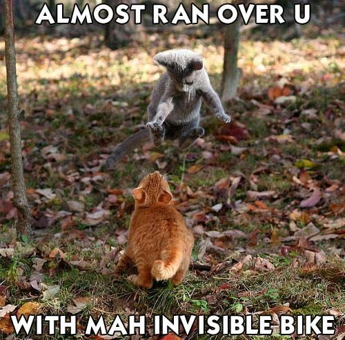 ALMOST RAN OVER U WITH MAH INVISIBLE BIKE