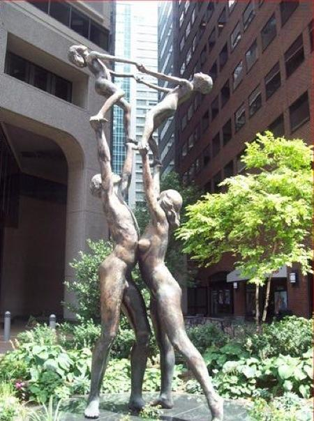 Weird Naked Statue Family