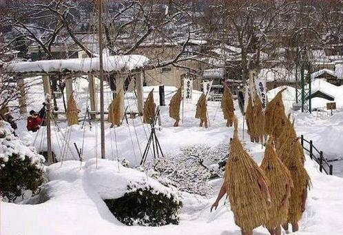 Wicker People in Winter