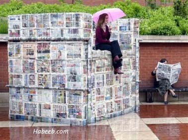 Newspaper Blocks Chair
