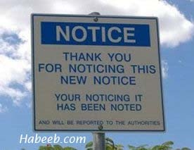 Notice-Thank You For Noticing
