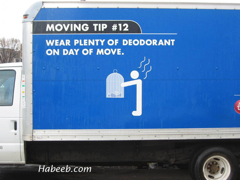 Wear Deoderant on Moving Day