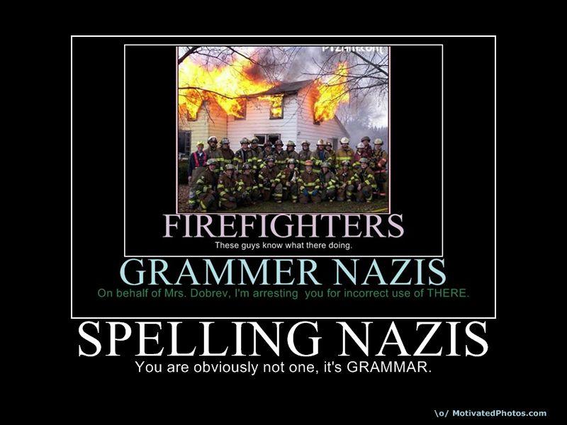 SPELLING NAZIS