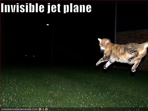 Invisible jet plane