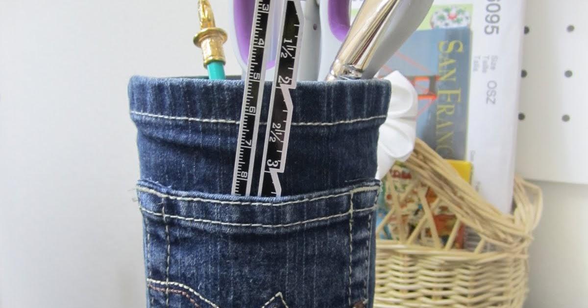 So Artes Criativas Porta L Pis Em Jeans Com Tutorial E