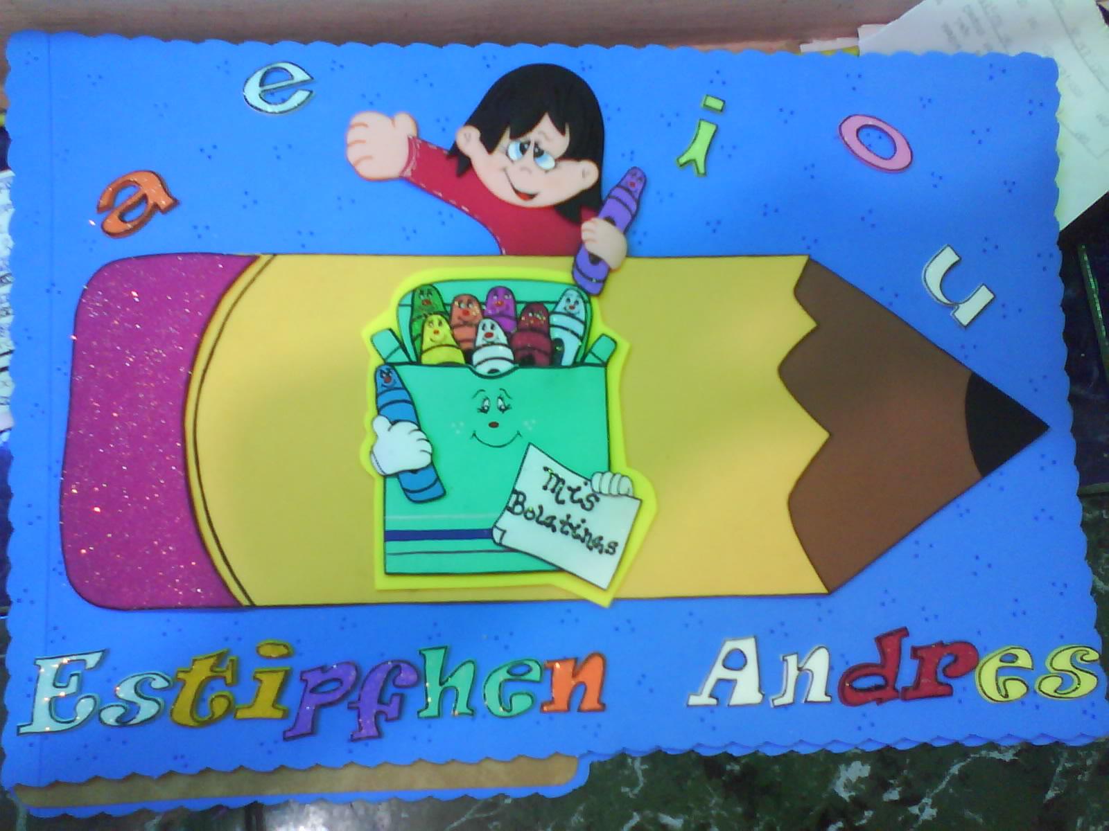 carpetas decoradas portafolios foami preescolar graduados