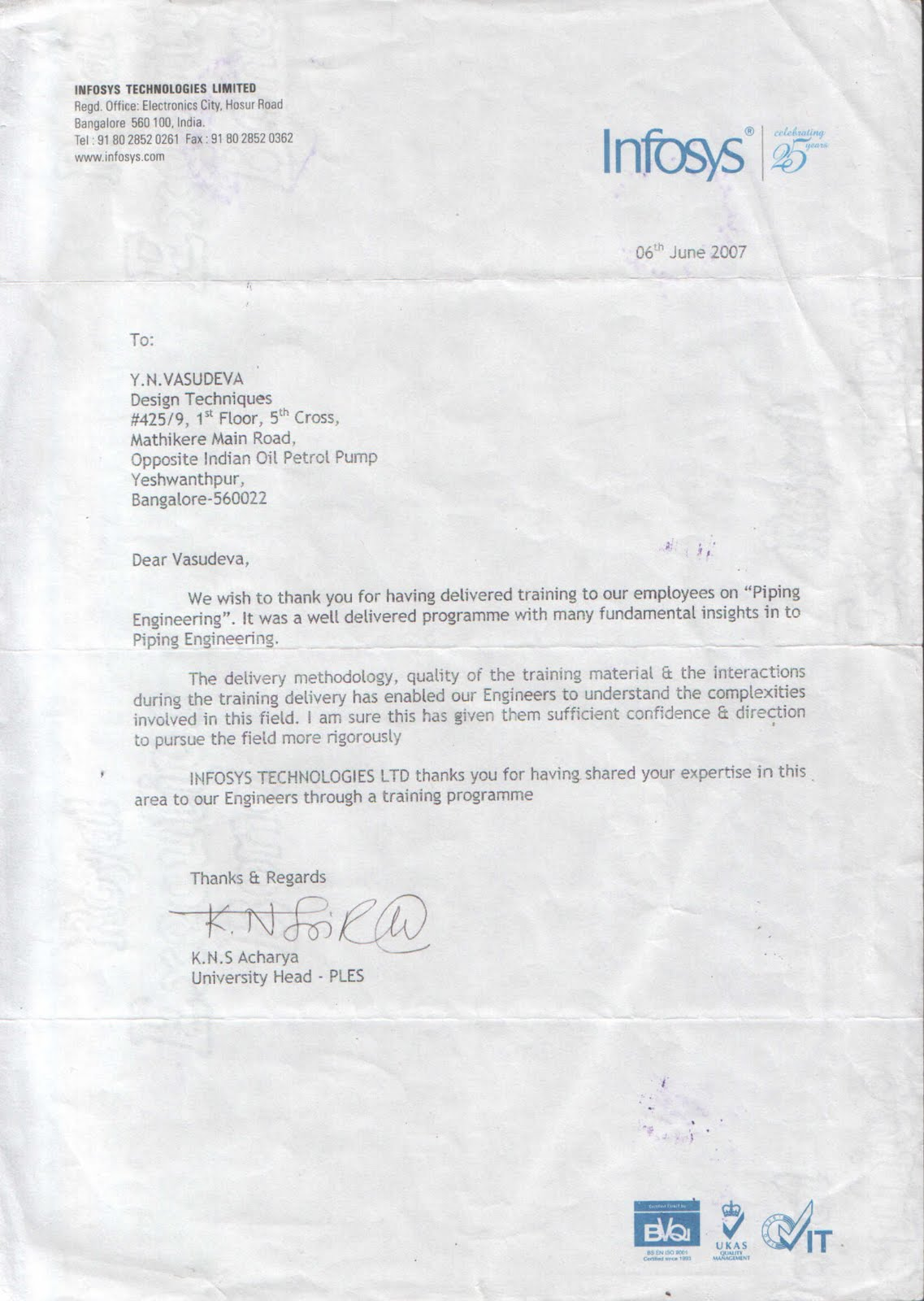 Anna Univ Edu Offer Letters To The Students Cognizant