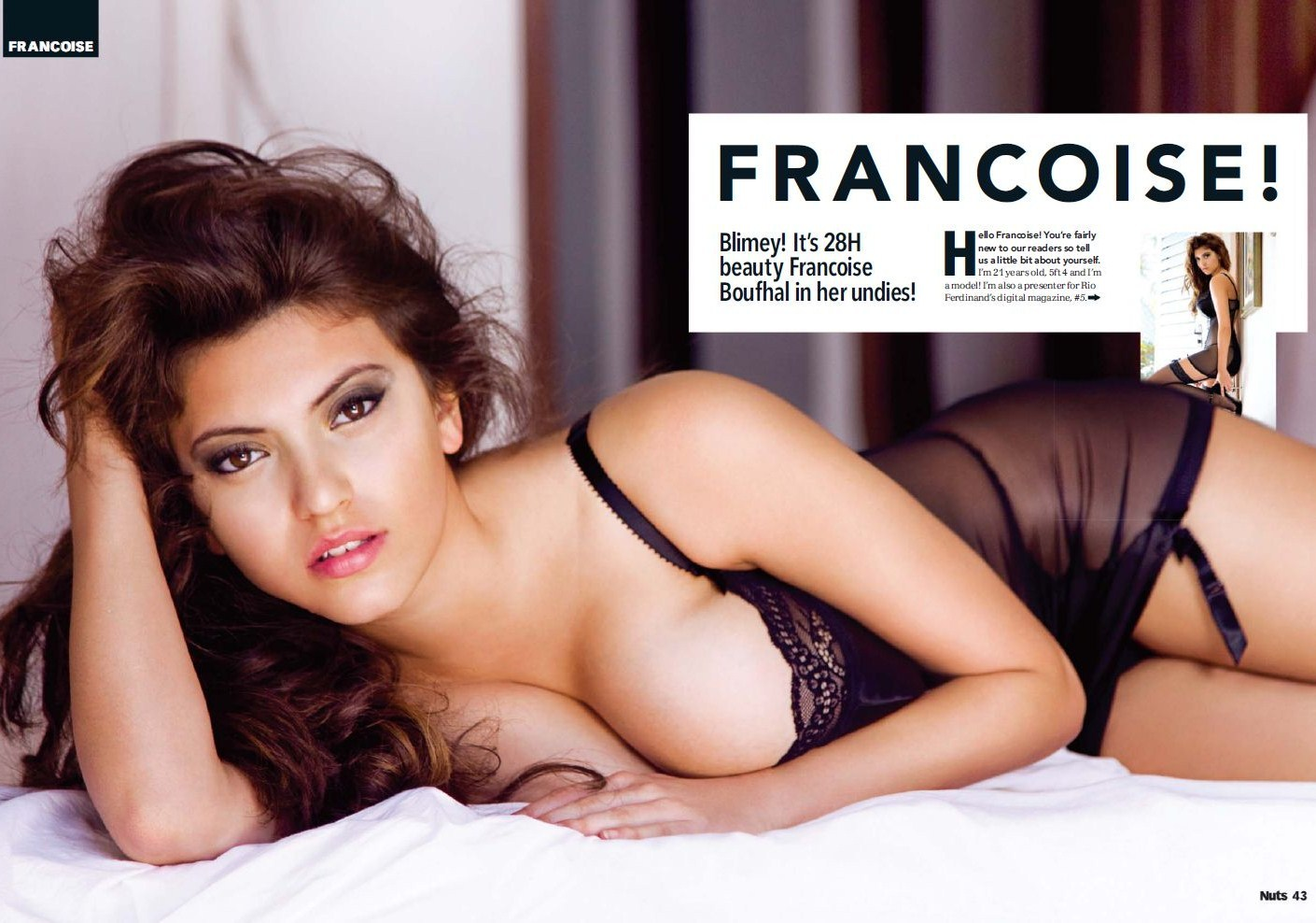 Francoise Boufhal nude, topless pictures, playboy photos