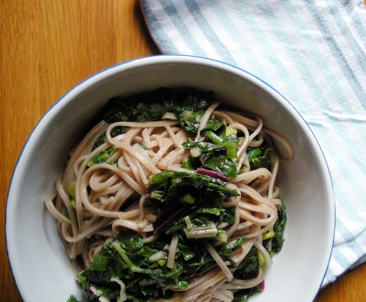 WHISK AWAY: Garlic Soba Noodles