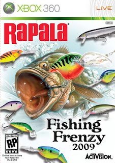 Rapala Fishing Frenzy 2009 XBox 360 Box Art